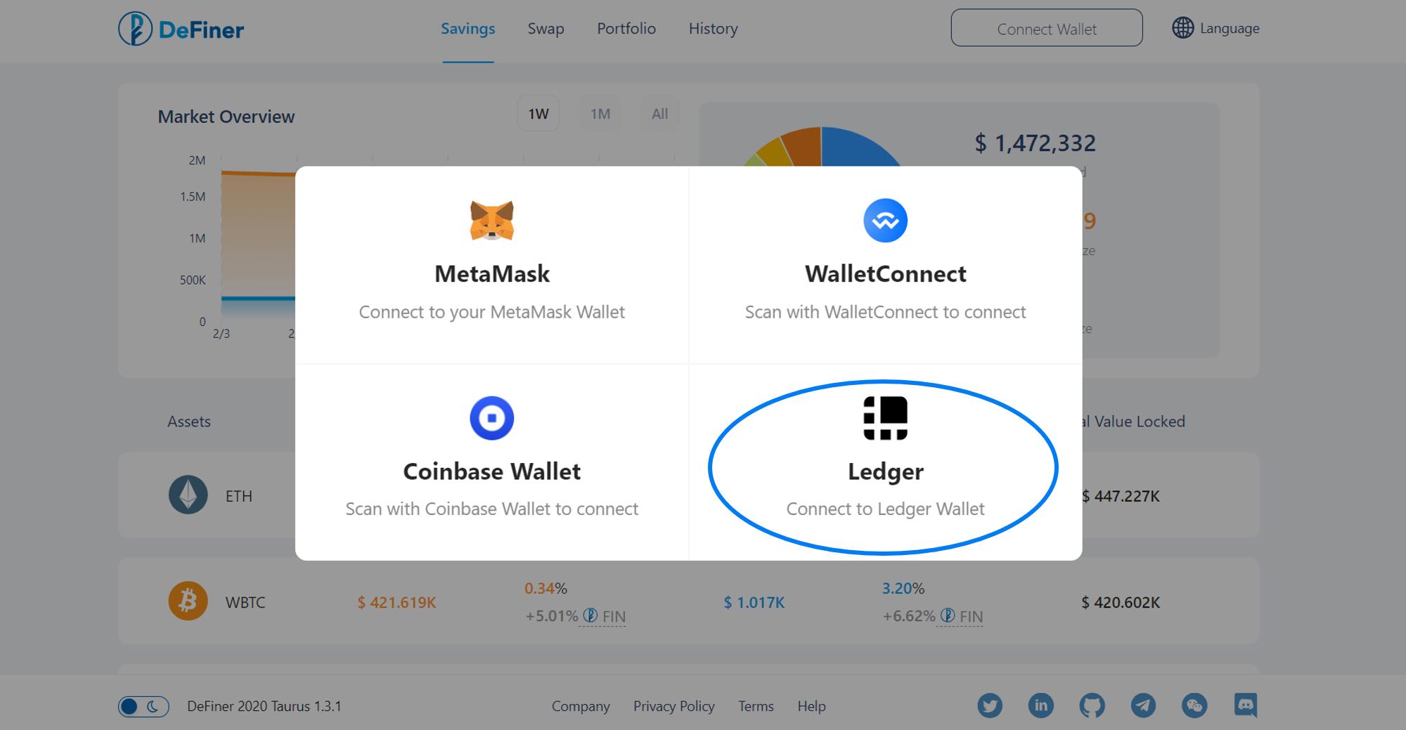 Platform Screenshoot Ledger